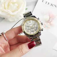 Relojes de pulsera CONTENA de lujo para Mujer, Relojes de Acero completo con diamantes de imitación para Mujer, Relojes de cuarzo para Mujer