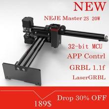 NEJE-grabador y cortador láser Master 2S de escritorio, máquina de grabado y corte, impresora láser, enrutador láser CNC, 20W