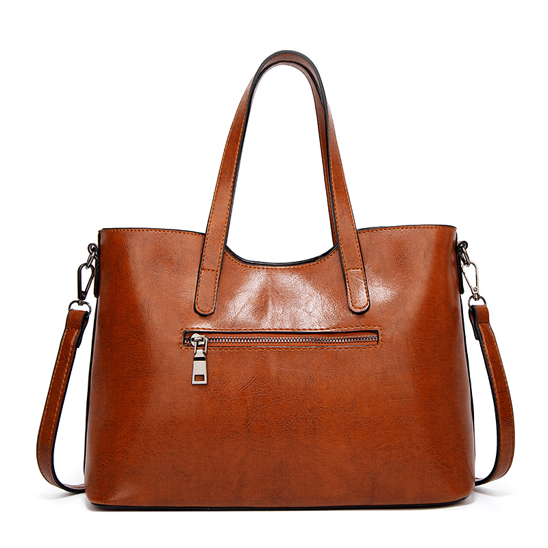 H902489729da2457fa35227a19bfcfe69O - Women's Vintage Handbag | Oil Wax Leather