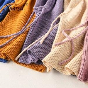 Image 4 - Sparsil gorro tejido de cachemira para invierno, bufanda para hombre y mujer, bufandas con cuello, sombreros con cordón, Unisex, calentador de cuello suave y grueso, 2018