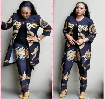 2020 Elegant African Sets Print Trousers Tops Pants Suits Dashiki Dress Bazin Robe Gowns Evening Party Traditional Hipster 2