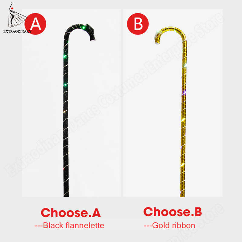 LED Colorful Crutch Jazz Cane Belly Dance Stage Performance Props Accessories Christmas Party Prop Lighting Walking Crutch
