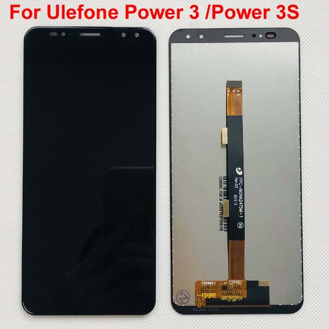 100% pantalla LCD Power3 + montaje de pantalla táctil, repuesto de digitalizador para Ulefone Power 3S, Ulefone Power, Original
