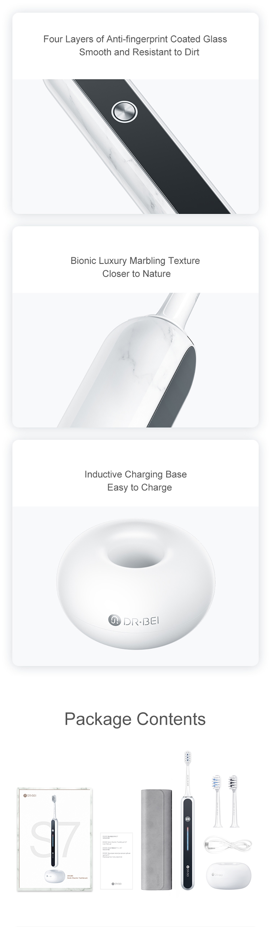 Xiaomi youpin s7 ipx7 escova de dentes