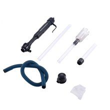 aquarium cleaner fish tank sand cleaner kit with air pressing button and adjustable water flow controller clamp for fish tank 2020 New 1Pc Aquarium Battery Syphon Operated Fish Tank Vacuum Gravel Water Filter Clean Siphon Filter Cleaner Fish Tank Tools