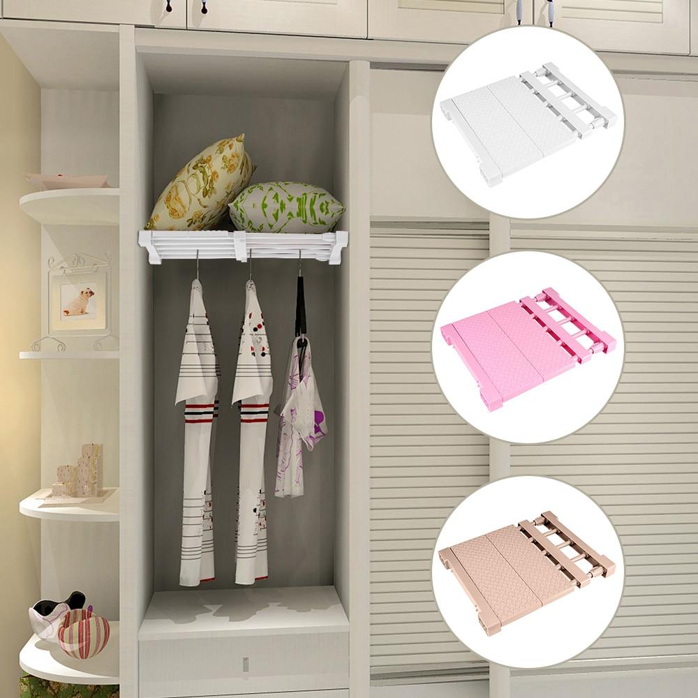 Adjustable Closet Organizer Storage Shelf Wall Mounted Kitchen Rack Space Saving Wardrobe Decorative Shelves Cabinet Holders