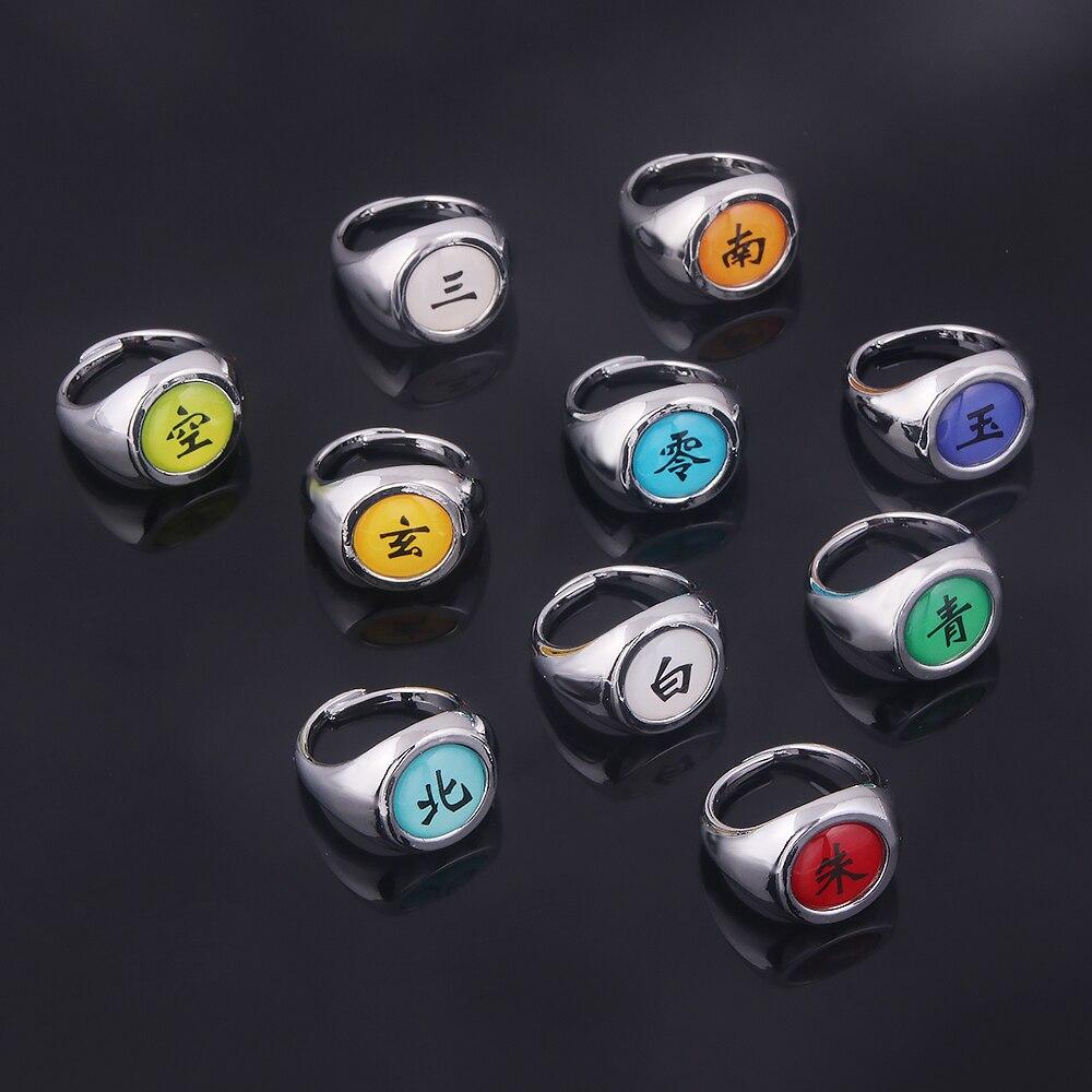 Комплект колец для косплея из аниме, кольцо Акацуки Итачи для женщин и мужчин, металлические украшения на палец, аксессуары для нарутоса, кр...