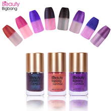 BeautyBigBang Blue Color Changing Nail Polish Glitter Temperature Chang Thermal Lacquer Nail Art Accessories Polish Varnish   недорого