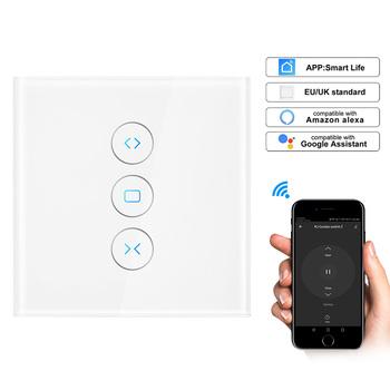 WiFi elektryczne rolety przełącznik dotykowy Smart Life APP sterowanie głosem przez Alexa Echo AC110 do 250V dla mechanicznego silnika rolety krańcowej tanie i dobre opinie 800W 110-240 v Wifi Curtain Switch