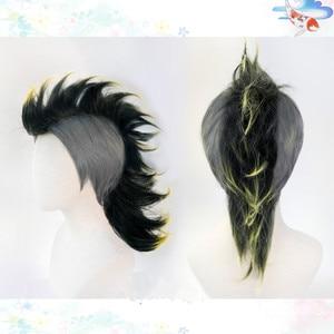 Image 2 - Anime Demon Slayer Kimetsu No Yaiba Shinazugawa Sanemi Cosplay Wig Halloween Hair+ Free Wig Cap