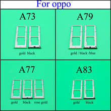 Untuk OPPO A73 A77 A79 A83 Micro Dual SIM Slot Kartu TF SD Tray Adaptor Holder Reader Tahan Air Mengeluarkan PCB papan Spare Pin(China)