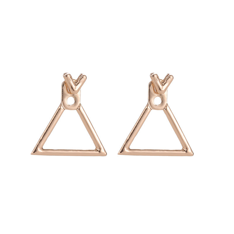 Brinco Individuality, Fashion, Simplicity, Metal Geometry, Openwork, Rhombus, Temperament, And All Kinds Of Earpin Accessories