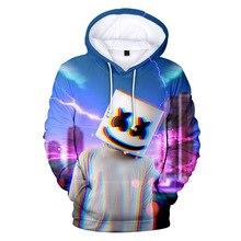 New Style Cotton Men Sweatshirts Candy Band Baida DJ Marshmello 3D Digital Print