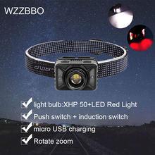 Самый мощный xhp70 светодиодный налобный фонарь usb Перезаряжаемые