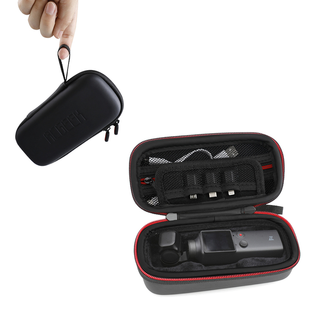 Storage Bag for FIMI Palm Gimbal Camera Case Carrying Case Portable Zipper Travel Accessories Hard Shell Waterproof Pu Bag