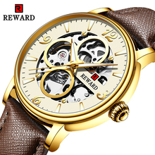 купить 2019 Luxury Brand Mens Automatic Mechanical Watches Men Luminous hands Gold Business Watch Fashion Waterproof Wristwatches дешево