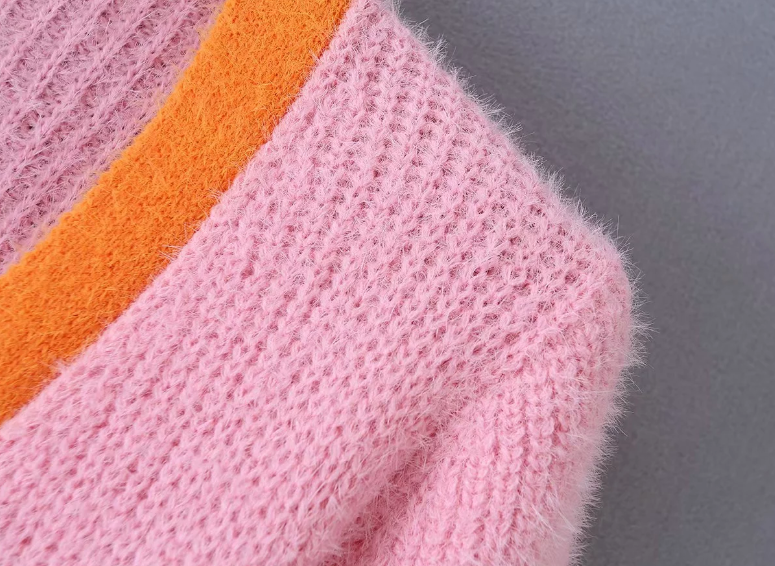 Pink cardigan womens sweaters korean crop sweater yellow autumn tops short sleeve v neck short cardigan mohair sweater fall 19 6