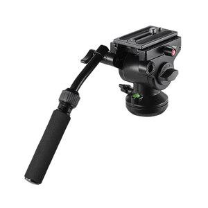 Image 5 - Штатив Andoer для видеокамеры, гидравлическая панорамная Экшн камера с панорамным тормозом для Canon, Nikon, Sony, DSLR