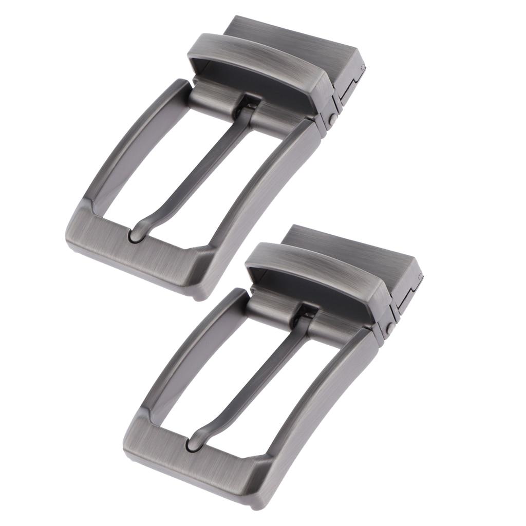 2x Mens Metal Reversible Belt Buckle Replacement Retro Pin Buckle, Rectangle пряжка для ремня мужская Man Gift