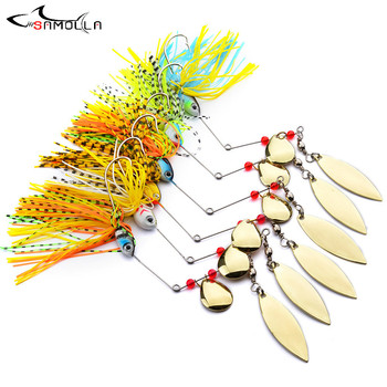 Spinnerbait Fishing Lures Weights16g Fishing Tackle Fish Lure Articulos De Pesca Isca Artificial Fishing Spinner Rigs Metal Lure hengjia 9g 9cm spinner lure fishing lures artificial baits metal bionic fish hook isca artificial fishing tackle rotate sequins