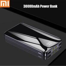 Xiaomi 30000 мАч Внешний аккумулятор внешний аккумулятор два светодиодный внешний аккумулятор портативный мобильный телефон зарядное устройство для Xiaomi iphone samsung