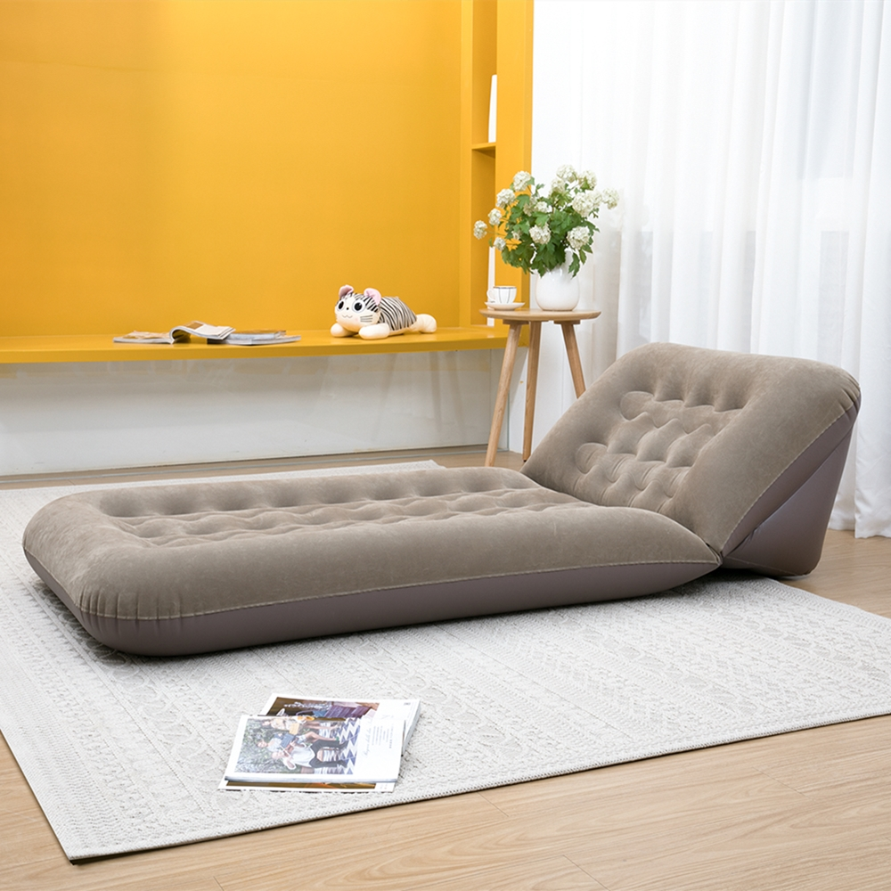 - Hot Offer #13473 - Hot Sale Flocking Inflatable Sofa Folding Bed