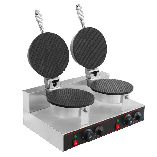 Egg Cake Machine Commercial Nonstick Regular Waffle Cone Maker Baker Machine Breakfast Maker Kitchen Appliance