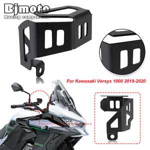 BJMOTO Versys1000 Motorcycle Front Brake Pump Fluid Reservoir Guard Protector Oil Cup Cover For Kawasaki Versys 1000 2019-2020