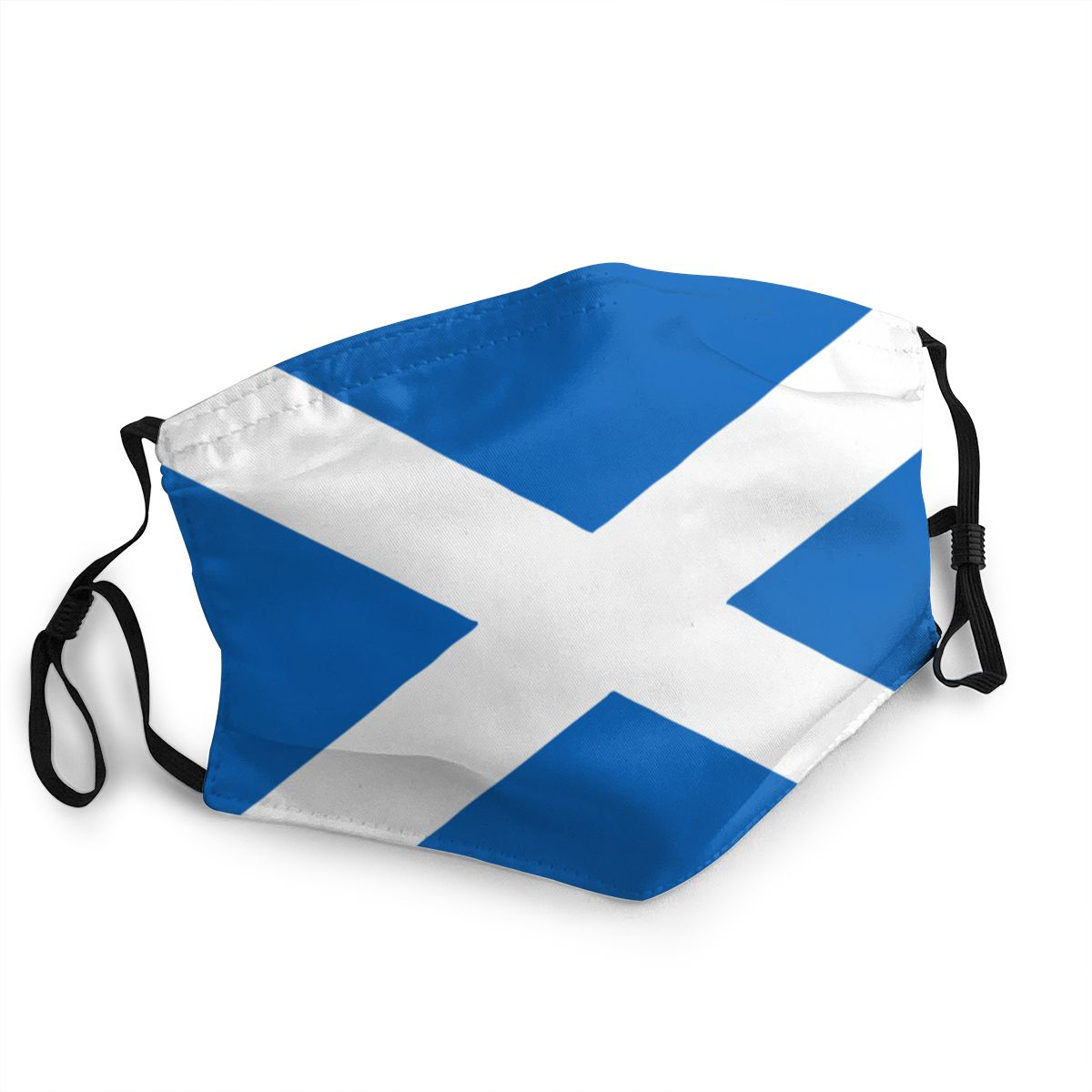 Flag Of Scotland Unisex Non-Disposable Mouth Face Mask Anti Haze Dustproof Protection Cover Respirator