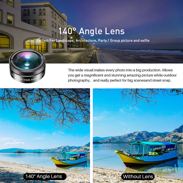APEXEL New 6in1 Kit Camera Lens Photographer Mobile Phone Lenses Kit Macro Wide Angle Fish Eye CPL Filter For iphone Xiaomi mi9 3