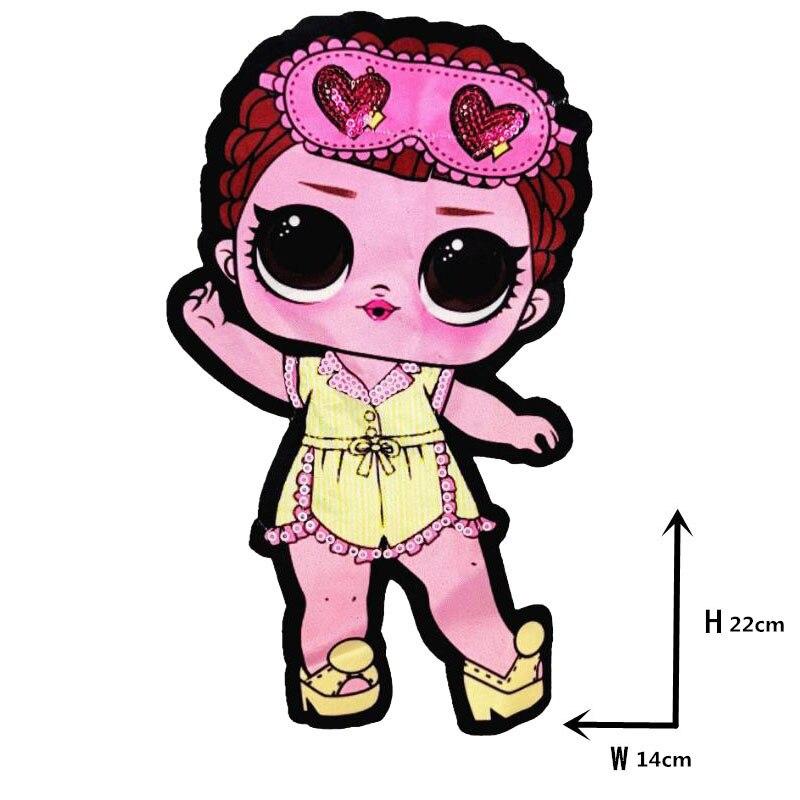 Мультяшные нашивки женские модные куклы лол для девочек Милая Модная Кукла-мальчик вышивка на одежду ручная работа украшение одежды Блестки Ткань - Цвет: WW-16