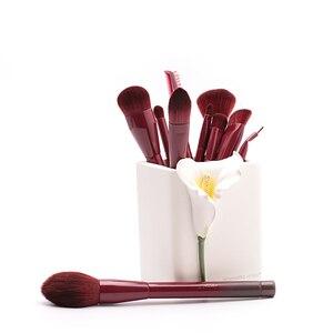 Image 2 - Jessup Brushes Winered 15pcs Makeup Brushes Set Powder Foundation Eyeshadow Eyeliner Lip Contour Concealer  T251