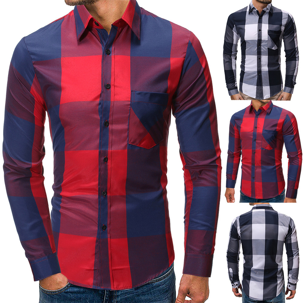 Men/'s Business Button Down Long Sleeve Fit T-shirt Leisure Dress Shirts Tops CRT