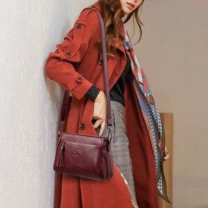 Image 2 - กระเป๋าถือหนังCrossbodyกระเป๋าสำหรับกระเป๋าสตรีสุภาพสตรีกระเป๋าสตรีกระเป๋าถือและกระเป๋าถือคุณภาพสูง