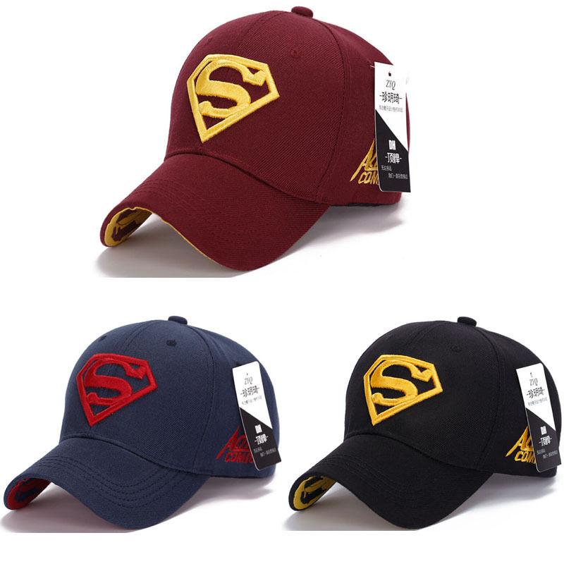 Superman Cap Baseball Trucker New Fashion Superhero DC Comics Golf Adjustable Sports Hats