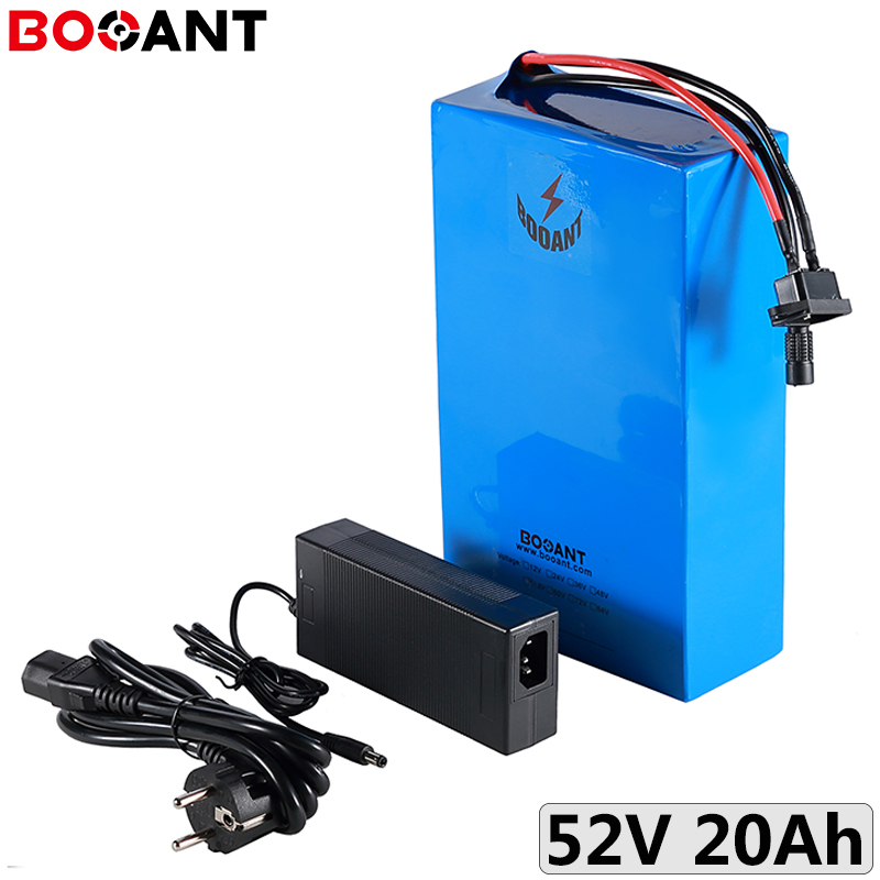 52V 20Ah ebike lithium ion battery for 48V 500W 750W 1000W motor kits 52V 20Ah 1500W electric bicycle battery pack 18650 cell