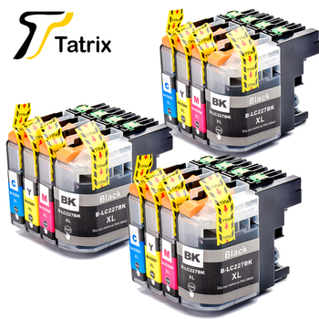 Tatrix Compatible Ink Cartridge for LC227XL LC225XL LC227 LC225 suit For Brother DCP-J4120DW MFC-J4420DW MFC-J4620DW MFC-J4625DW luocai lc223 lc221 4 pieces compatible ink cartridges for brother mfc j4420dw j4620dw j4625dw j480dw j5320dw j5620dw printers