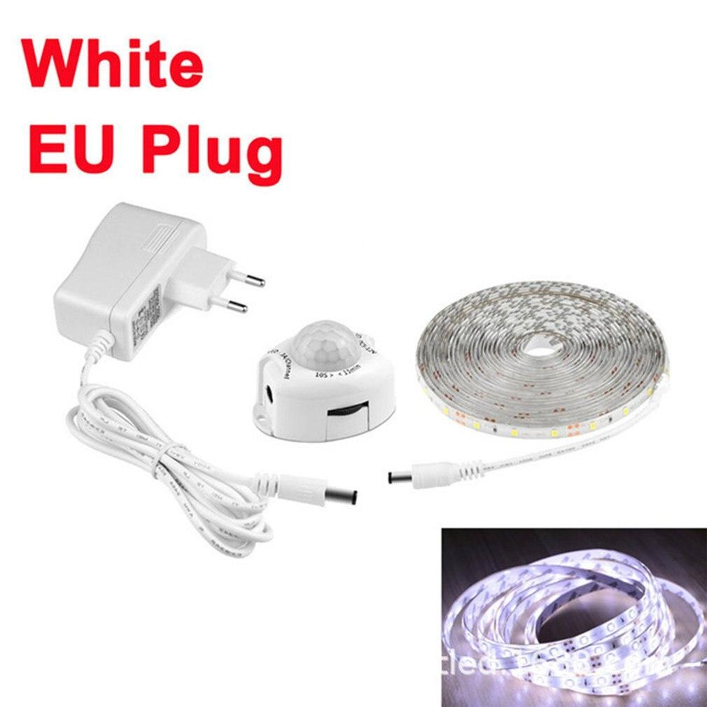 Led Intelligent Sensor Light With 3528 Light Strips Human Infrared Bedroom Bedside Wardrobe Cabinet Lighting