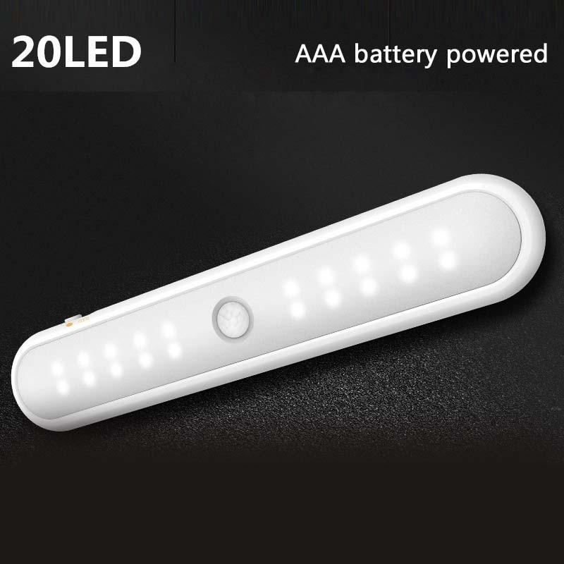 Купить умный мини светильник для шкафа 20 светодиодов с инфракрасным