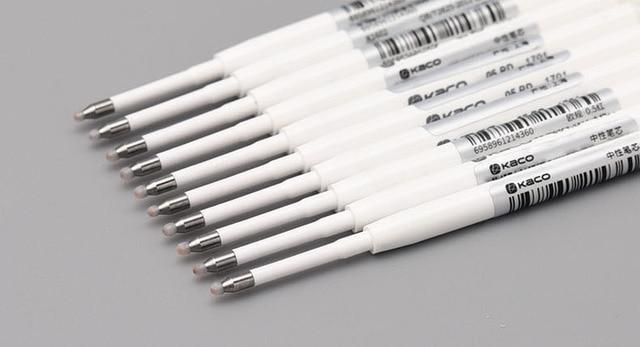 Xiaomi KACOGREEN atrament żelowy wkład 0.5MM europejski standardowy wkład do chowanych długopisów żelowych materiały biurowe 10 sztuk/pudło