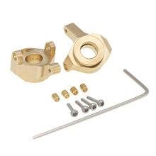 Ensemble de 2 articulations de direction en laiton, pour Axial SCX24 90081 RC voiture chenille mise à niveau pièces accessoires