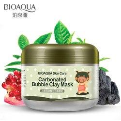 Bioaqua carbonatada bolha argila máscara facial reparação nutrição creme facial hidratante e hidratante cuidados com a pele clareamento máscaras faciais