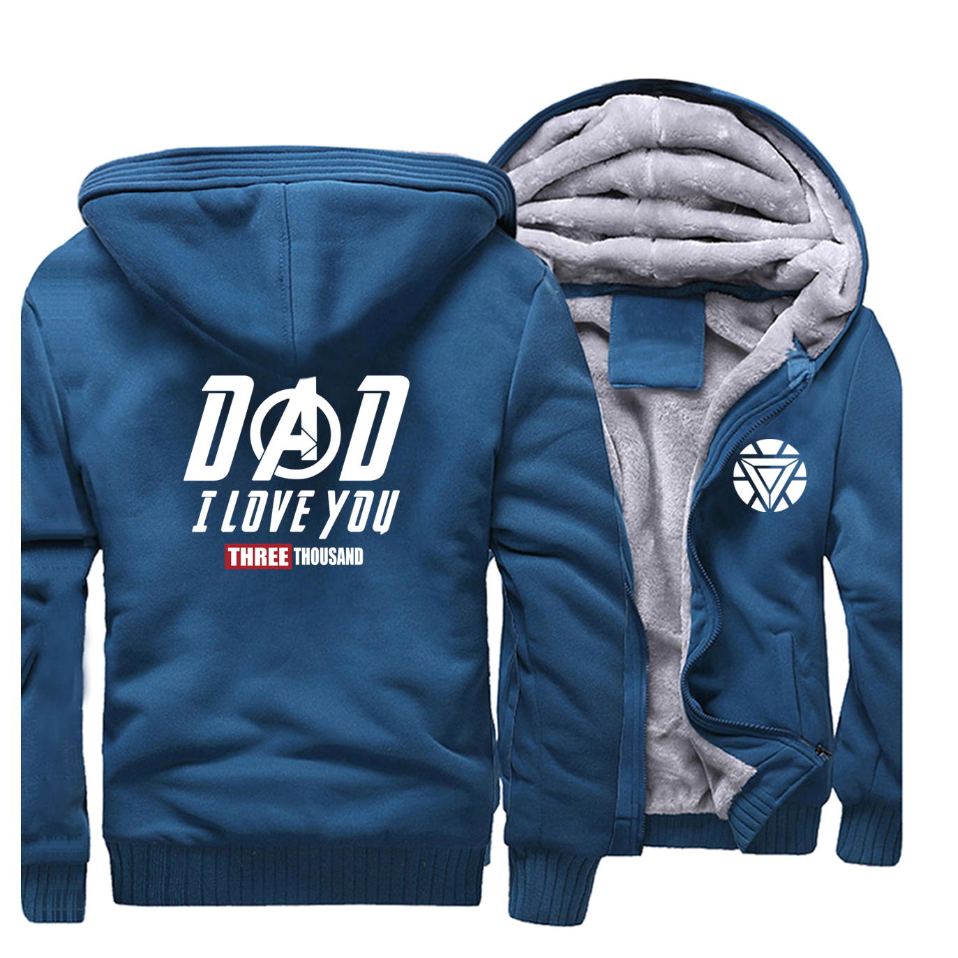 2020 Marvel Jackets Casual Thicken The Avengers I Love You Three Thousand Hooded Men Keep Warm Winter Hot Sale Sweatshirts Hoody