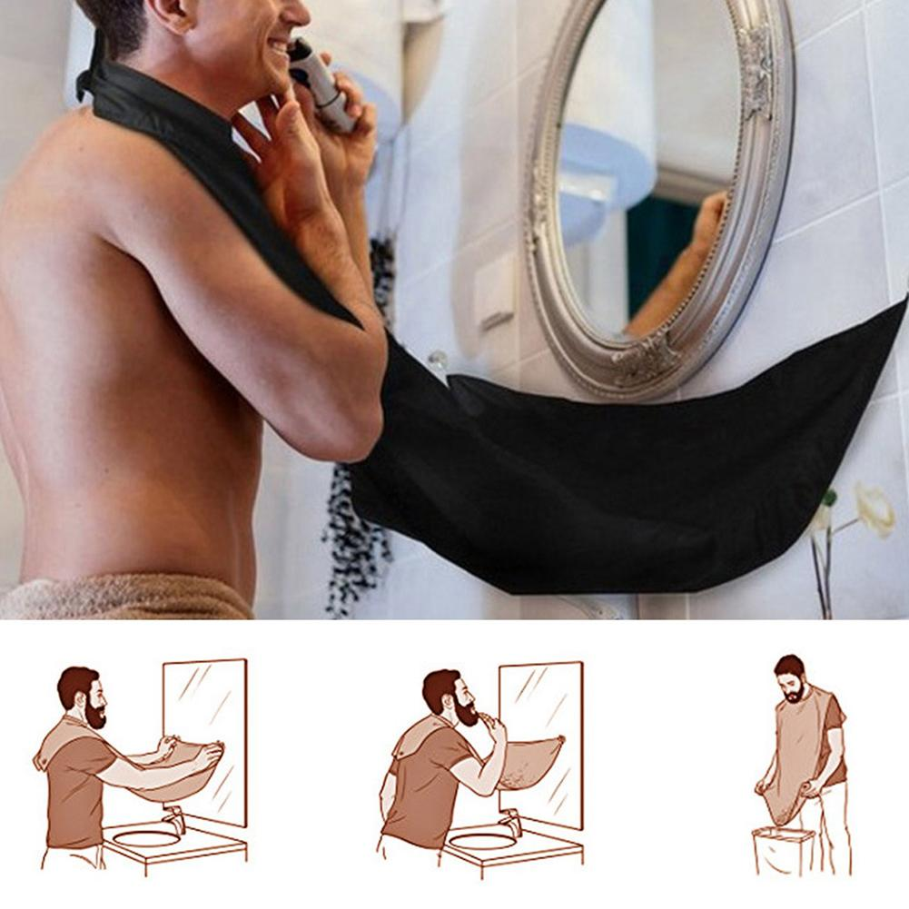 Men Beard Kit Styling Tool Beard Essence Oil Comb Brush With Apron Cloth Moustache Balm Moisturizing Wax Styling Beard Care Set 4