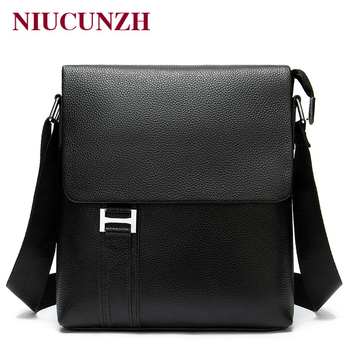 NIUCUNZH Messenger Bag Men's Genuine Leather Bags for Men Casual Crossbody Shoulder Bag Leather Men Messenger Bags Handbags Man