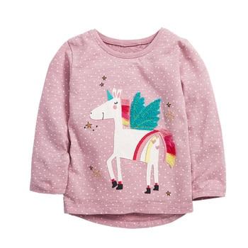 Jumping meters 2020 Unicorn Girls Long Sleeve T shirts 100% Cotton Tops Children Animals Clothing Autumn Spring T shirts Kids 1
