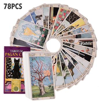 78 Sheets of Tarot Colored Pagan Cats Tarot Board Game Cards Family Gathering Board Game game board djeco кроассимо