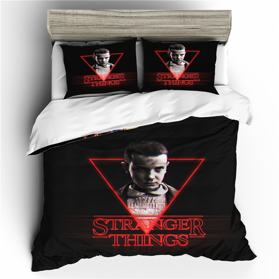 A Bedding Set 3D Printed Duvet Cover Bed Set Stranger Things Home Textiles For Adults Bedclothes With Pillowcase #SNT04