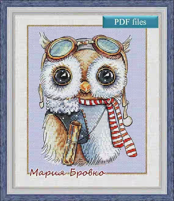 GG Gold Collection Counted Cross Stitch Kit Cross stitch RS cotton with cross stitch <font><b>Merejka</b></font> Owl pilot image