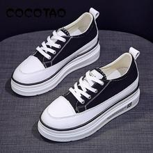 Canvas Shoes Thick Bottom Muffin Increased Thickening 2019 S